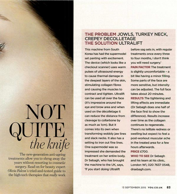 Dr Sebagh Ultralift featured in You Magazine
