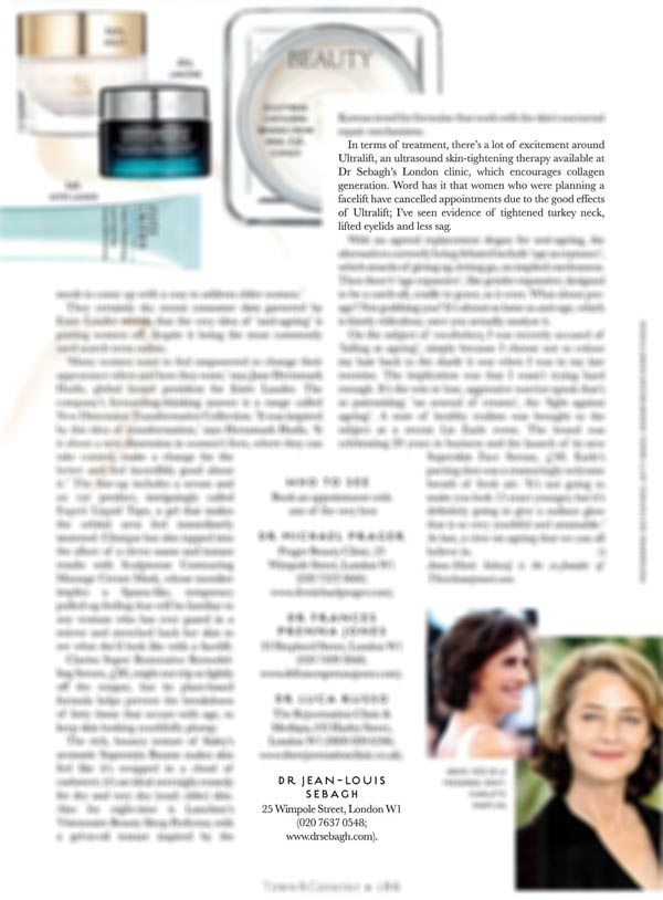 Dr Sebagh Ultralift featured in Town & Country